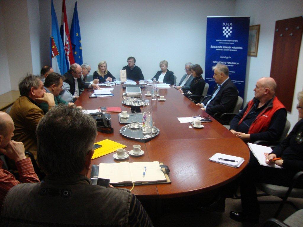 Održana 43. sjednica Strukovne grupe graditeljstva i projektiranja HGK – Županijske komore Virovitica