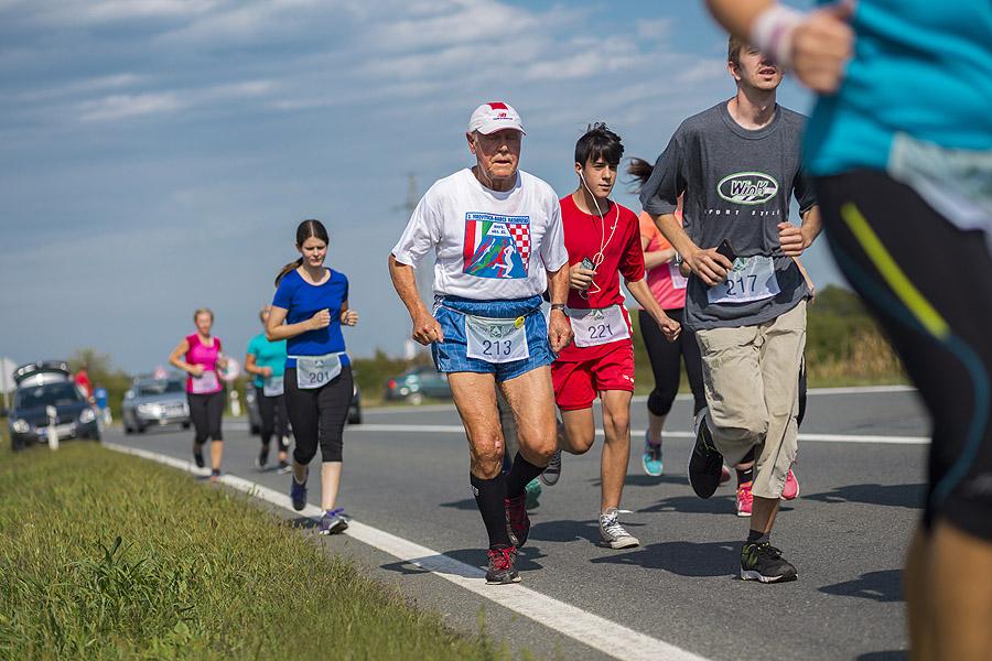 Fotogalerija: 26. prekogranična cestovna utrka Barcs-Virovitica – apsolutni pobjednici utrke na 5,8 kilometara Paula Rakijašić iz Virovitice i Danijel Dunković iz Slatine