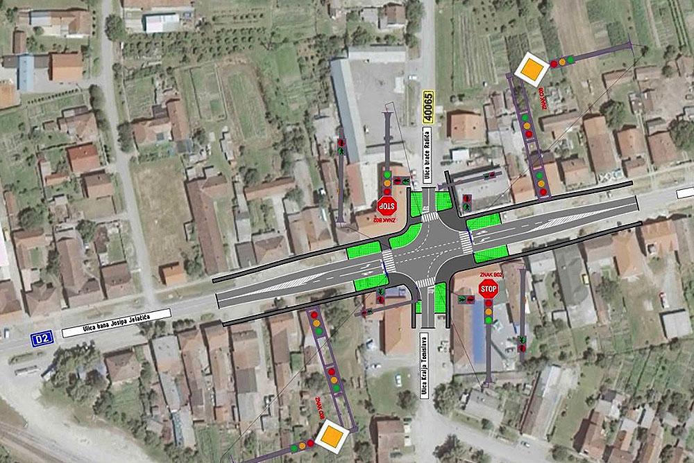 Veća sigurnost sudionika u prometu: Uz potporu Virovitičko-podravske županije, u središtu Čačinaca postavit će se semafori