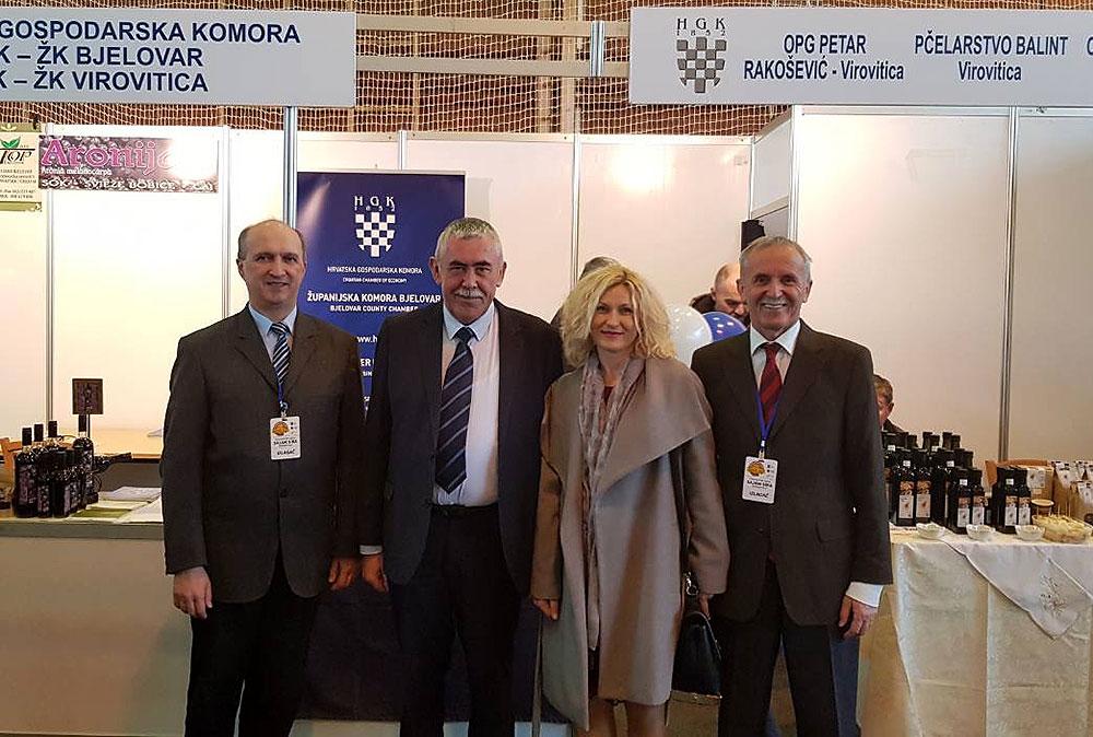 Izlagači s područja Virovitičko-podravske županije na 15. međunarodnom gospodarskom Sajmu sira u Grubišnom Polju