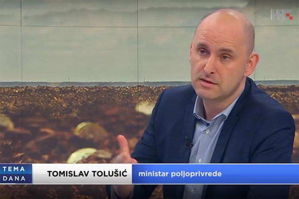 LokalnaHrvatska.hr Virovitičko-podravska županija Video: Ministar poljoprivrede Tomislav Tolusic , gostovao je u Temi dana HTV-a, govoreci o novom natjecaju za mlade poljoprivrednike koji se krecu od 20 do 50 tisuca bespovratnih eura