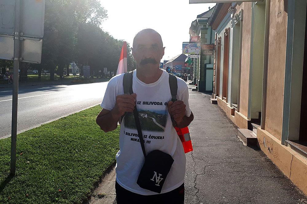 """Jozo Marković pješačit će 19 dana kako bi odao počast žrtvama u Bilivodama, put je to od """"samo"""" 276 kilometara"""
