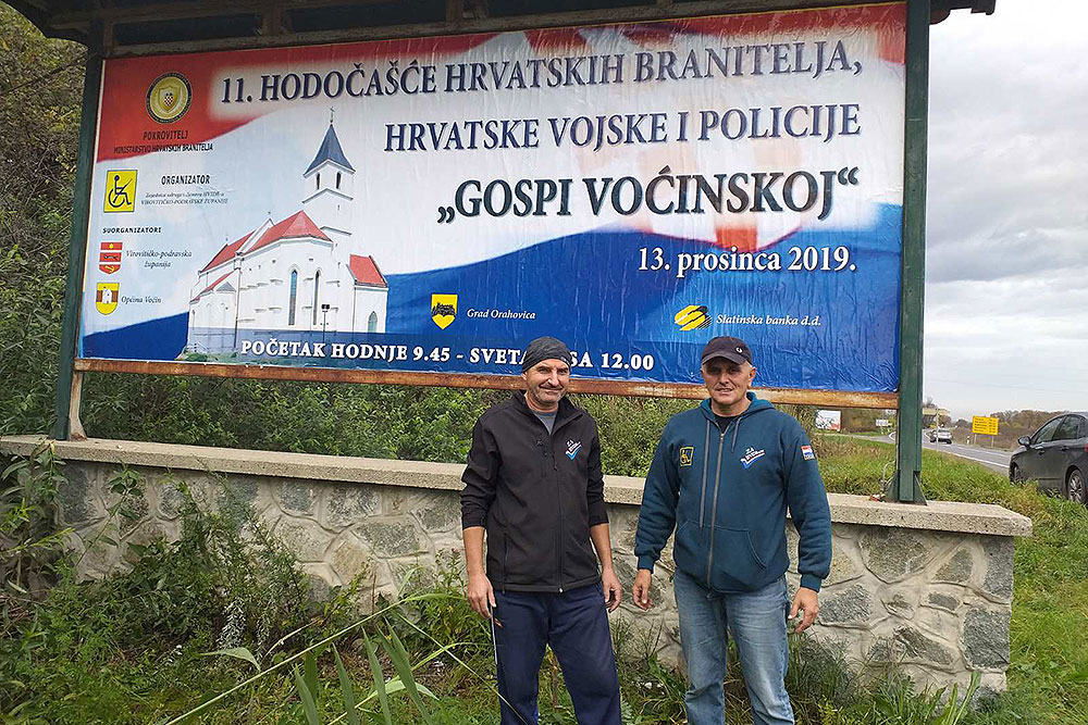 Postavljenjem jumbo plakata počele pripreme za 11. Hodočašće hrvatskih branitelja, Hrvatske vojske i policije Gospi Voćinskoj