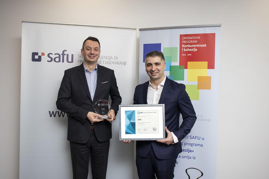 SAFU je jedina državna agencija s certifikatom Poslodavac Partner