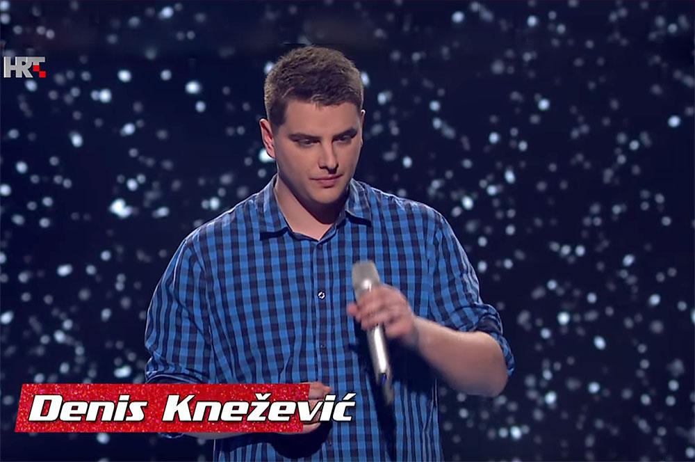"""Video: Poslušajte Denisa Kneževića iz Slatine koji je zapjevao u """"nokaut fazi"""" The Voice Hrvatska"""