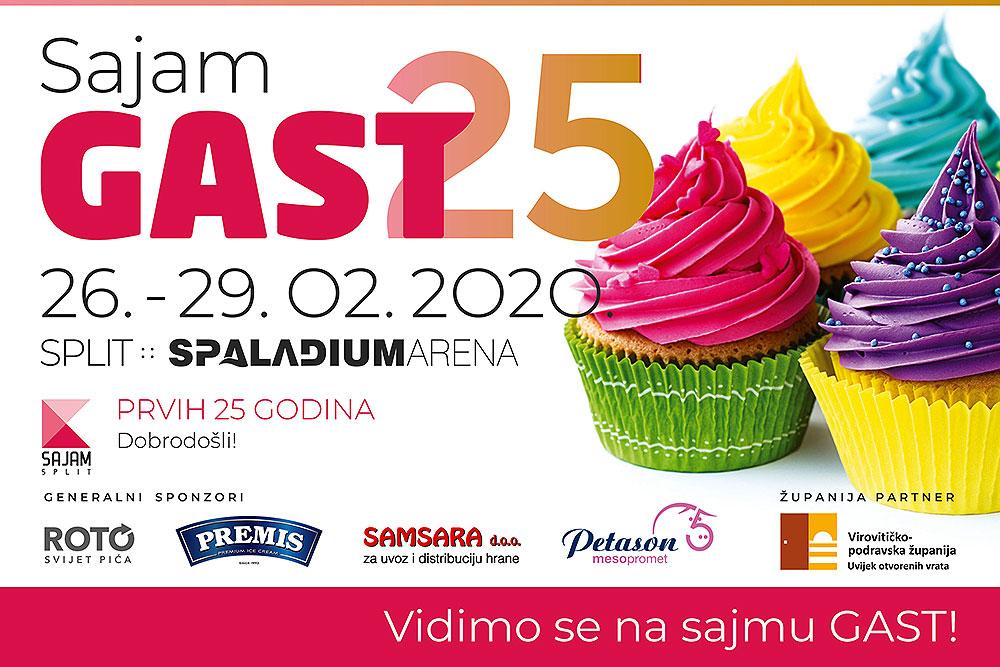 Virovitičko-podravska županija će se kao Županija partner, od 26. do 29. veljače, predstaviti na 25. jubilarnom sajmu GAST u Splitu, doznajte tko će se predstaviti u Spaladium areni