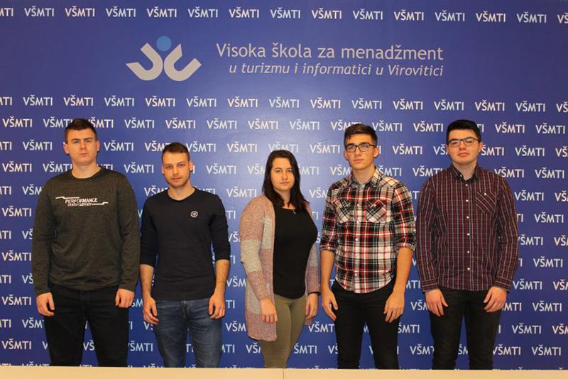 Mjesečno 3.000,00 kuna: Petero studenata studija računarstva na VŠMTI-u potpisalo s FINA-om ugovore o stipendiranju